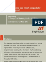 Indian Thermal Coal Imports Prospect