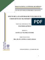 Efecto de la elasticidad de un fluido no newtoniano en el coeficiente individual de transferencia de calor