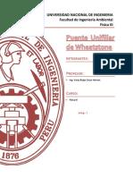 INFORME N°2 Puente unifilial de Wheatstone