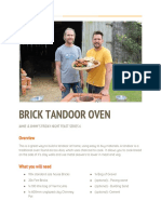 TX3 Brick Tandoor Oven JIMMY Build PDF