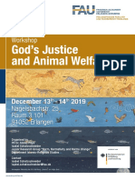 Poster Gods Justice and Animal Welfare