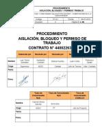 PT-01 Rev 0 Procedimiento Aislación Bloqueo y Permiso Trabajo