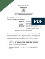 Auto - Devolver Seccional Mal Identificado El Sujeto