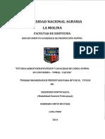 Estudio Agrostoedafológico y Capacidad de Carga Animal
