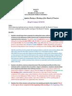 KPS Public Comment Policy Changes