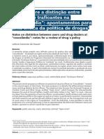 """Notas Sobre a Notas sobre a distinção entre usuários e traficantes na """"cracolândia"""""""