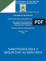 Nanotecnologia y Seguridad Alimentaria