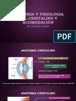 Anatomia y Fisiologia Del Cristalino y Acomodación
