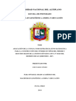 APLICACIÓN DE LA YUPANA PARA LA CONSTRUCCIÓN DEL NÚMERO CON NIÑOS Y NIÑAS