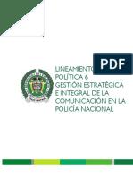 LINEAMIENTOS DE POLITICA DE GESTIÓN ESTRATÉGICA