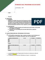 Modelo Análisis de Pertinencia Del Programa de Estudios Xxxx
