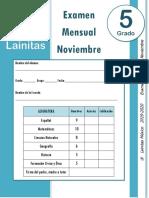 Noviembre - 5to Grado - Examen Mensual (2019-2020).docx