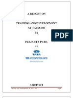 Prajakta Training Report