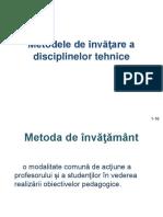 Metodele de Învăţare a Disciplinelor Tehnice