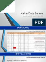 Semester i Summary Sales Regular Kdsc