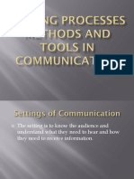 setting and tools in communication