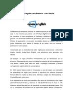Open English una historia  con visión.docx