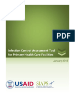 USAID 2013. Assesement Tool Infection Control