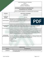 Informe Programa de Formación Complementaria SCMT