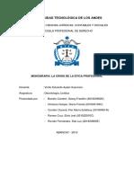 Monografia La Crisis de La Etica Profesional 2019