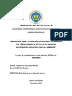 Daño Ambiental 19 - Seguro Ambiental 62 - Ecuador