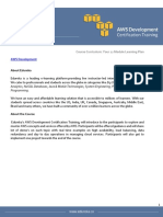 AWS Development Certification Traning Course Curriculum