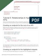 5 - Relationships and Hyperlinked APIs - Django REST Framework