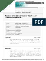 """Revisar Envío de Evaluación_ Cuestionario """"Gestión Sobre SMBD"""".."""