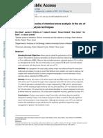 Interpreting Chemical Stone Analysis