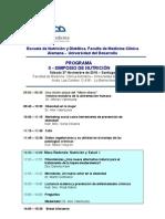 Programa II Simposio Nutrición UDD Nov 2010