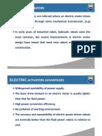 Electric Actuators in robot manipulator