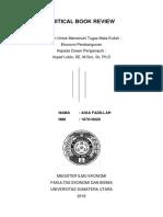 Critical Book Review ekonomi pembangunan