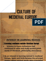 The Culture of Medieval Europe Finals