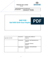 8. SMP for for Mill Girth Gear Replacement