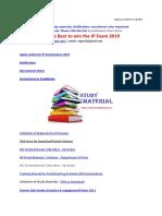 Study Materials PDF - SAPOST Dtd 11.09.2019