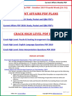 Current Affairs Weekly PDF - October 2019 Fourth Week (24-31) by AffairsCloud