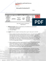 Metacognitive Reading Report UTS