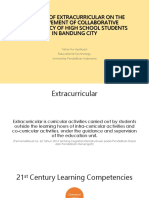 extracurricular and collaborative competency