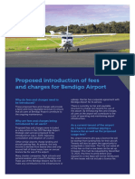 Bendigo Airport Fees and Charges