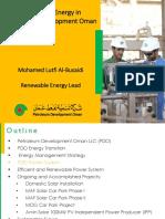 Renewable Energy PDO