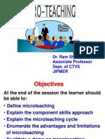 Microteaching - 2.4.18 (Dr. Ram Shankar).ppt
