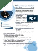 Tanto Surioto - Website Development Checklist