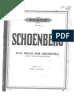 Fünf Orchesterstücke Op. 16