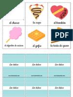 Карточки по испанскому языку десерты
