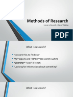 Methods of Research Lesson 1