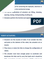 Robot Actuators