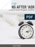 The Effect of Sleeping After 'Asr (Analysis Toward Prophetic Tradition)