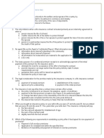 Life Insurance Mcqs Questionnaire
