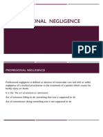 Professional Negligence - Medical Practice