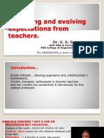 Transforming an Ordinary Teacher in to an Outstanding Teacher 16.7.2018
